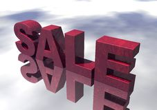 3D Red Marble Sale Sign Royalty Free Stock Photos
