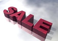 3D Red Marble Sale Sign Stock Photos