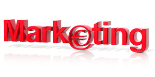 3D red marketing text Stock Image
