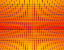 3d red orange yellow tiled wall floor pavement Stock Images