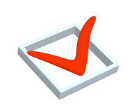 3D red point marked in the list Stock Image