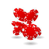 3D Red Poker Chips Royalty Free Stock Photography