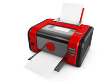 3d red printer Stock Photo