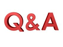 3D red Q & A Stock Photos