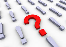 3d red question mark Royalty Free Stock Image