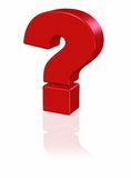 3D red question mark Stock Photo