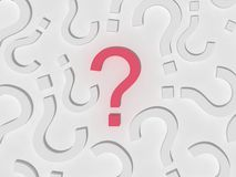 Free 3d Red Question Sign Field Stock Photography - 7855222