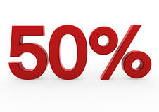 3d red sale 50 Stock Image