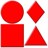 3D Red Shapes Royalty Free Stock Photography