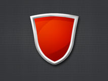 3D Red Shield Stock Photos