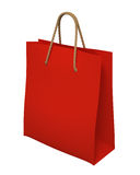 3d Red Shopping Bag Icon Isolated Stock Photos