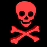 3D red skull Royalty Free Stock Image