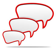 3d red speech bubble Stock Photography