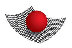 3D Red Sphere Stock Photo