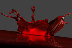 3D red splash Royalty Free Stock Images