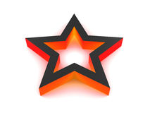 3D Red Star. 3D rendered red star isolated on white background Royalty Free Stock Image