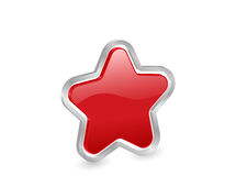 3d red star with contour Royalty Free Stock Images
