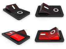 3D red switch on off Stock Photography
