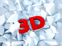 3d red text. Illustration of 3d red text Stock Images