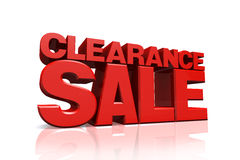 3D Red Text Clearance Sale Royalty Free Stock Photography