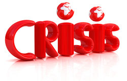 3d red text crisis Royalty Free Stock Photography