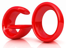 3d red text go Stock Images