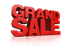 3D Red Text Grand Sale Royalty Free Stock Image