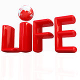 3d red text life Royalty Free Stock Photo