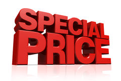 3D Red Text Special Price Royalty Free Stock Images