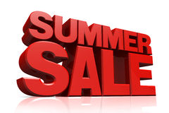 3D Red Text Summer Sale Royalty Free Stock Photo
