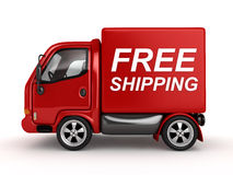3D Red Van. With Free Shipping text