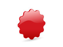 3D red vector badge Stock Photo