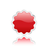3D red vector badge Royalty Free Stock Image