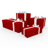 3d red white gift box Royalty Free Stock Image