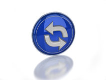 3d refresh glossy icon Royalty Free Stock Photo