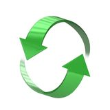 3D Refresh Icon. High quality render of 2 circulating arrows symbolising refresh, recycle and renewal. much like the F5 refresh computer desktop icon Stock Image
