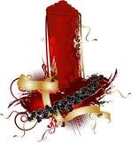 3D rei vermelho vertical Bandeira Foto de Stock Royalty Free