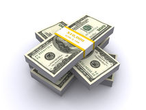 3d rekeningen van de dollar (geef terug) stock illustratie