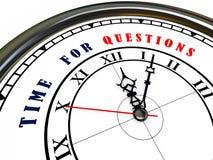 3d reloj - hora para las preguntas Imágenes de archivo libres de regalías