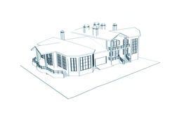 3d remisu dom techniczny Obrazy Stock