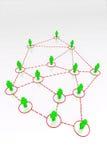 3D rendem conexões humanas Imagem de Stock Royalty Free