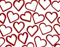 3d rendem corações de queda Fotografia de Stock Royalty Free
