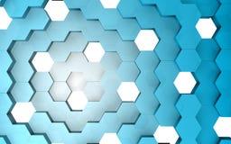 3D rendem da estrutura do hexágono Foto de Stock