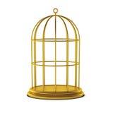 3d rendem da gaiola de pássaro ilustração royalty free