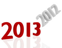 3d rendem de 2013 que começ livrado de 2012 Fotografia de Stock Royalty Free