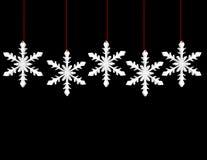 3d rendem de flocos de neve de suspensão Fotos de Stock