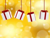 3d rendem de presentes de Natal de suspensão Fotos de Stock