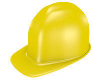 3d rendem de um capacete de segurança amarelo Fotos de Stock