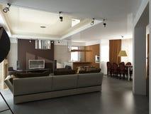 3d rendem de um interior moderno Foto de Stock Royalty Free