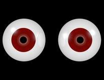 3d rendem de um par de olhos vermelhos Fotografia de Stock Royalty Free